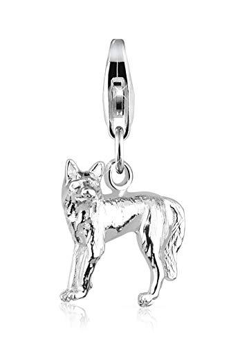 Elli Charm Elli Damen Charm Wolf Natur Tier in 925 Sterling Silber