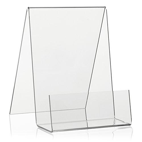 Boekenstaander/boekenstandaard als goederendrager en schuine houder in DIN A6-formaat van origineel Plexiglas