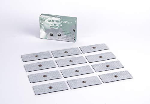 Vupiesse - PF075 Kit 12 elettrodi a Gel Adesivo 4x9 cm a Bottone