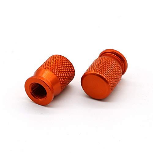 RONGLINGXING Powersports Teile Rad-Reifen-Gummireifen-Ventilkappen Aluminiumlegierung For KTM RC 125 200 390 690 790 990 1050 1090 1190 1290 ADV Adventure Super Duke (Color : Orange)