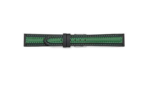 Cinturino sintetico compatibile con Sector Expander (18-16, Verde)