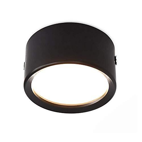 12W Panel de luz LED Downlight de Techo Lámpara montada en Superficie Downlights Circulares para hogares comerciales - Dia 10cm [Clase energética A ++] (Color: Blanco-6000K)
