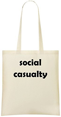 Soziale Unfallversicherung - Social Casualty Custom Printed Shopping Grocery Tote Bag 100% Soft Cotton Eco-Friendly & Stylish Handbag For Everyday Use Custom Shoulder Bags