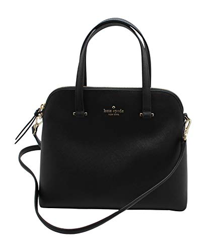 Kate Spade New York Maise Medium Dome Leather Satchel Handbag in Black