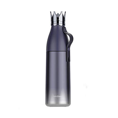 Jaromepower - Botella de Agua de Doble Pared con Aislamiento al vacío, Taza de Exterior, Botella de Viaje, Termo Deportivo para niños y Adultos