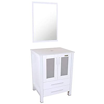 "eclife 24"" Bathroom Vanity and Sink Combo Above Counter Lavatory Vanity Cabinet Contemporary Style"