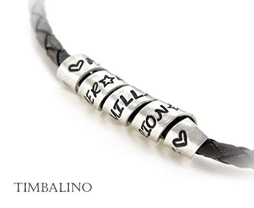 Namenskette, Silberspirale, Familienband Herrenkette mit Sterling Silber Anhänger und Gravur nach Wunsch