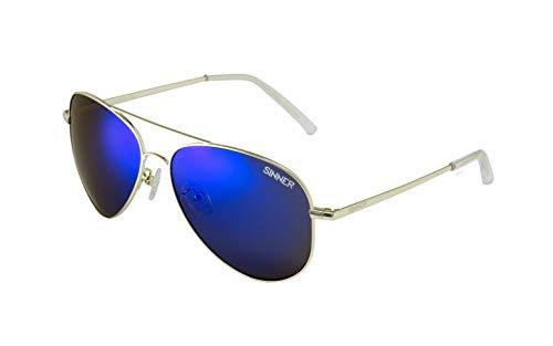 SINNER Erwachsene Sonnenbrille Morin Polycarbonat Aviator Metal Gold