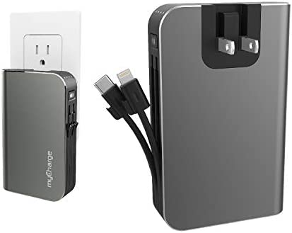 myCharge Portable Charger for iPhone Built in Cable USB C Power Bank Fast Charging Hub Turbo product image