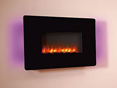 Celsi CFECR0RE Flamonik Rapture Electric Fire - Black Glass