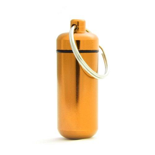 Pilulier, capsule, en aluminium, imperméable, porte-clés, stockage, jaune