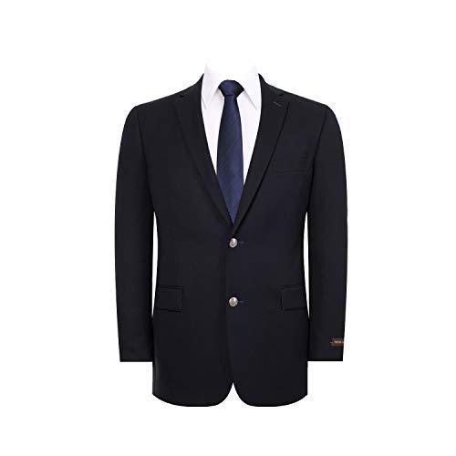 Men's Suit Jacket Classic Fit 2 Button Stretch Blazer Sport Coat Navy