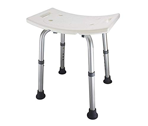 Ez2care Adjustable Lightweight Shower Bench, Bathtub Stool,White(18 inches), Old Brand