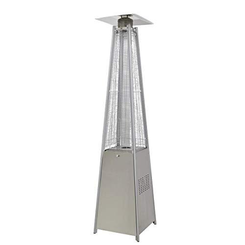 Dellonda Gas Pyramid Patio Heater Outdoor Garden Stainless Steel Wheels 13kW