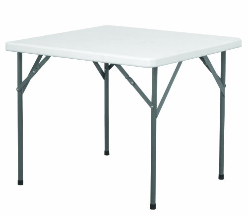 EG HEAVY DUTY PLASTIC SQUARE FOLDING LEGS TABLE - (88cm) TABLE FOR CATERING OFFICE CAMPING SCHOOLS GARDEN - NEXT WORKING DAY DELIVERY
