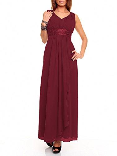 Astrapahl Damen br09111ap Kleid, Rot (weinrot), 34