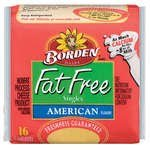 BORDEN CHEESE SLICES AMERICAN SINGLES FAT FREE 12 OZ PACK OF 3