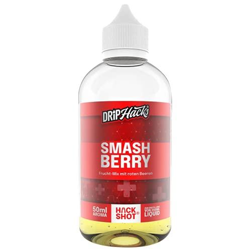 Drip Hacks Smashberry, e liquid Aroma, Longfill Shake and Vape zum Mischen mit Base Liquid für e-Zigarette, ohne Nikotin, 50 ml