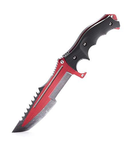 ariknives - Huntsman Knife Counter Skin Knife CS GO Strike Messe Jagdmesser taktisches Überlebens Camping Werkzeug (Autotronic)
