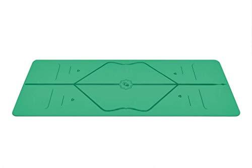 Liforme Reise Yogamatte - Grün - aus umweltfreundlichem Gummi - 2mm dünn - mit Yogatasche