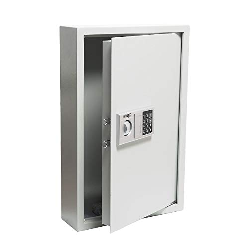 newpo Schlüsselschrank mit Zahlencode | Platz für 133 Schlüssel | Safe Schlüsseltresor Tresor Schlüsselbox Schlüsselkasten Wandmontage