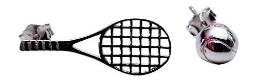 Tennis Happies Pendientes de Tenis Raqueta y Bola