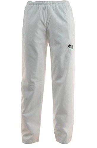 Bowling-Hose für Herren und Damen (Unisex), wasserdicht, mit Bowling-Logo, Taille durch Gummizug verstellbar, weiß