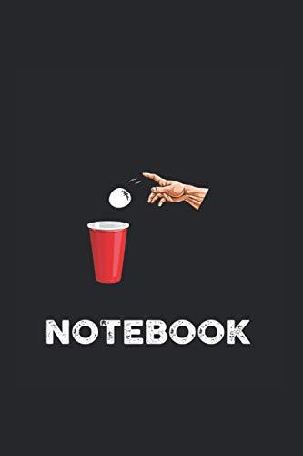 Notebook: Carnet de notes avec table des matières A5 6x9 Inch Liné Beer Pong Cadeau Beer Pong Drinking Munich Idée cadeau Jeu de boisson Fête Booze Tour Drinking Game Carnet de notes