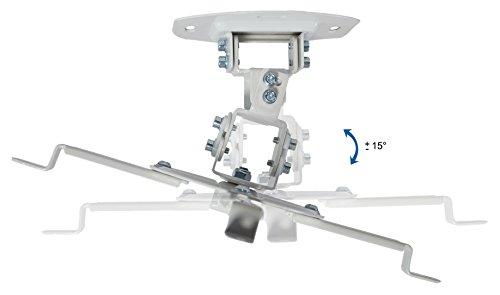 VIVO Soporte Universal para proyector de Techo Ajustable, Color Blanco