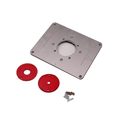 X-BAOFU, 1set 85x85mm Aluminum Router Table Plate Trimming Machine Flip...