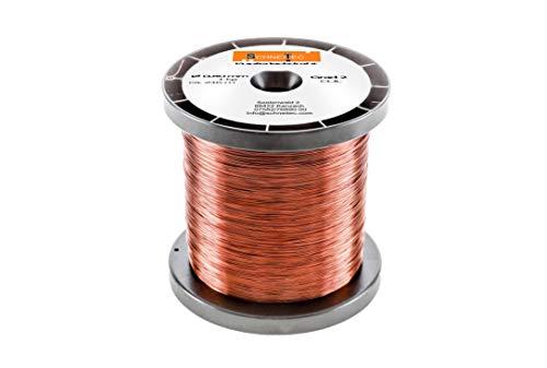 Kupferlackdraht 1kg Ø 0,80 mm CU Lackdraht Grad 2 CUL Kupferdraht Gewicht 1 Kilogramm Durchmesser 0,80 Millimeter Wickeldraht Kupfer Draht nach IEC 60317-13