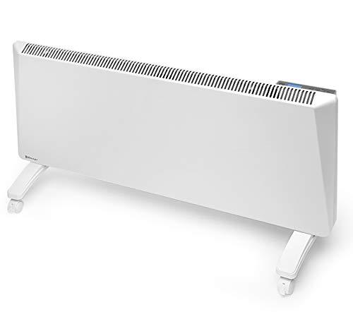 Radialight® Sirio - Termoconvector eléctrico portátil de bajo consumo con control digital de temperatura programable Eco Estufa calefactor de bajo consumo Protección de humedad IP24 (2000 W)