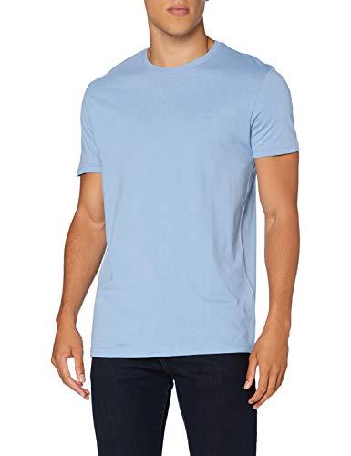 Springfield 5Ba Básica Logo Tree-c/16 Camiseta, Azul (Light_Blue 16), Small (Tamaño del Fabricante: S) para Hombre
