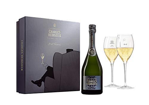 Champagne AOC Brut Réserve Coffret Fauteuil - Charles Heidsieck - 0,75l. + 2 flütes