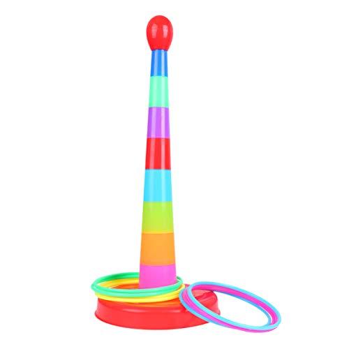 Kisangel Colorido Anillo de Lanzamiento Juego de Juguete Deportivo Anillo de Lanzamiento de Plástico Rompecabezas de Juguete para Padres E Hijos Juego Deportivo de Juguete para Niños Y