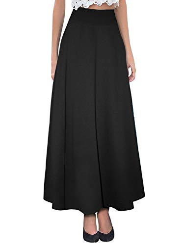 Hybrid & Company Women's Versatile Maxi Skirt/Convertible Dress KSKSD9500 1017 Black XL