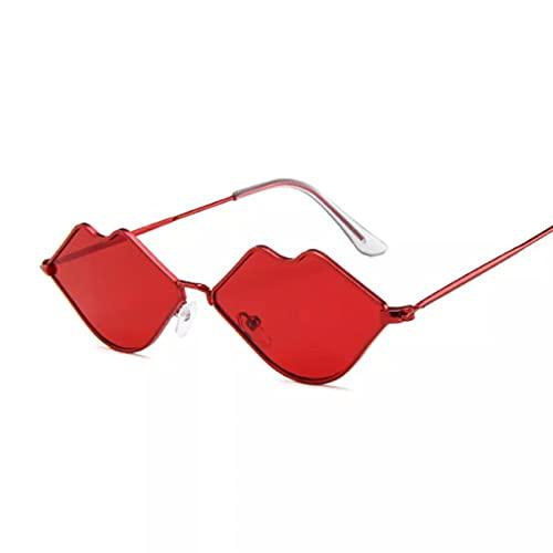 TYOLOMZ Gafas de Sol con Forma de corazón de Amor para Mujer Montura sin Montura Color Claro Lentes Transparentes Gafas de Sol Coloridas Viajes