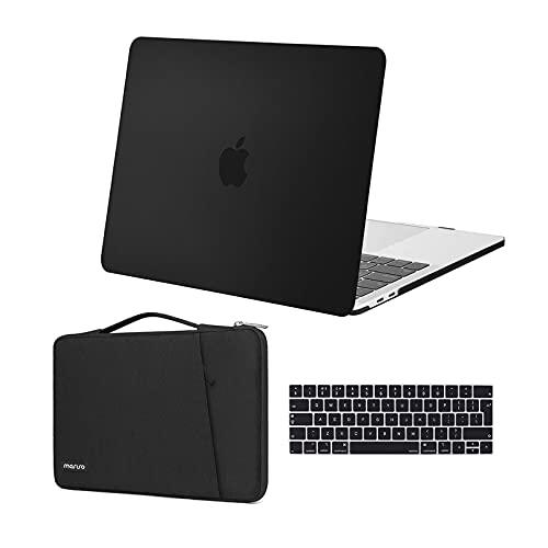 MOSISO Case Compatibile con MacBook PRO 13 Pollici 2020-2016 Uscita A2289 A2251 A2159 A1989 A1706 A1708, Custodia Rigida in Plastica&360 Protettivo Borsa&Tastiera Cover, Nero
