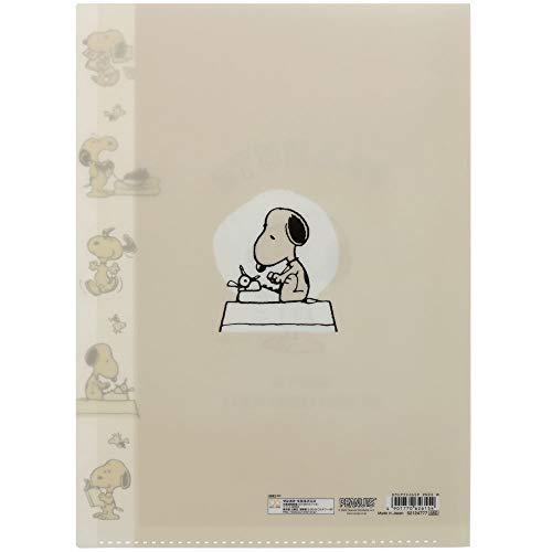 サンスター文具スヌーピークリアファイルダイカットカラーセレクションホワイトS2124777