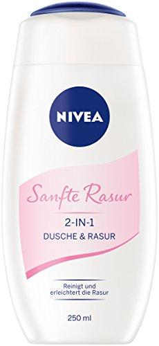 NIVEA Sanfte Rasur 2-in-1 Dusche und Rasur im 6er Pack (6x 250 ml), Duschgel zum gründlichen und...