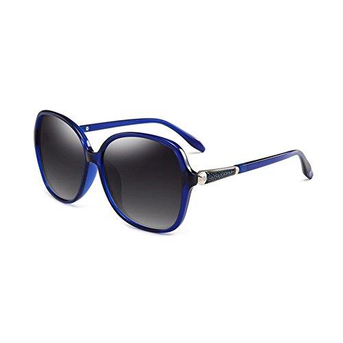 CJC Sonnenbrille Polarisiert Männer & Frauen | UV-Blockierung Blendfreie Linsen (Farbe : Blau)