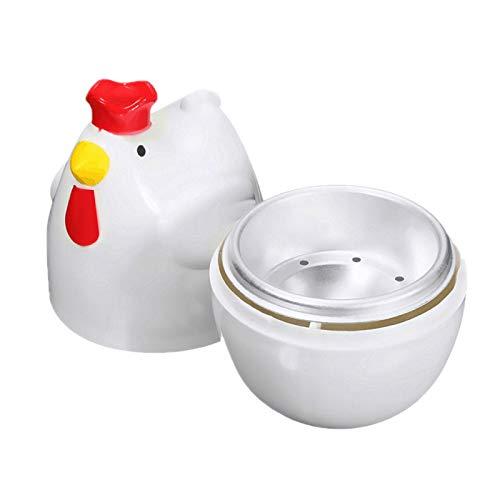 Haudang Chick-Shaped 1 gekochtes Ei Dampfgarer Dampfgarer Stoessel Mikrowelle Eierkocher Kochutensilien Kuechenhelfer Zubehoer Werkzeuge
