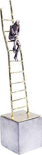 Kare Design Deko Objekt Elements Climbing Man, Dekofigur, Dekoobjekt, Moderne Accessoires, Wohnzimmer Dekoration, Geschenkidee, (H/B/T) 40x9x9cm, Stahl