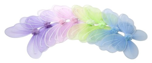 Girls Butterfly Fairy Wings for Kids, Birthday Party Favors Set of 4 Multi Color