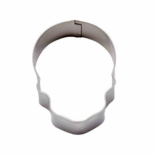 DeColorDulce crâne Moule Biscuit, Acier Inoxydable, Argent, 13 x 10 x 3 cm