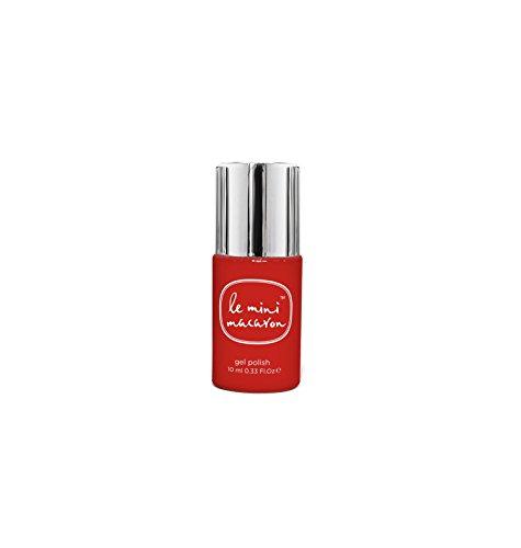 Le Mini Macaron • Vernis à Ongles UV 3 en 1 • Nail Gel Semi-Permanent • Séchage LED • Grenade Couleur Rouge Intense • 10ml