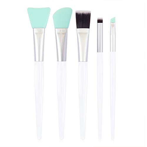 Yissma DIY gezichtsmasker kwastenset, 5 stuks gezichtsmasker, borstel, gezichtsverzorging, kom silicone moddermaskers borstel maskers