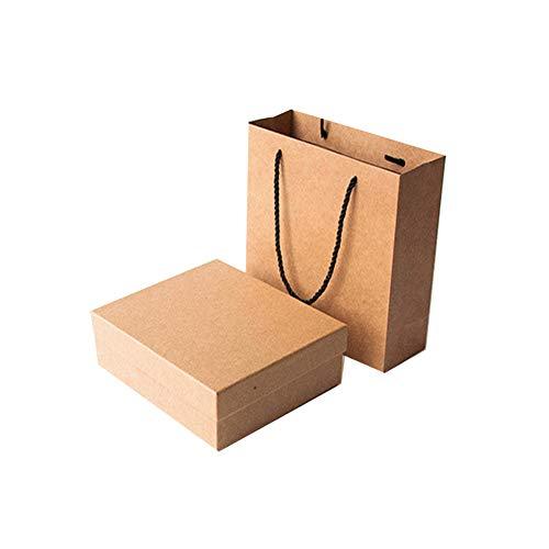 Queta caja de regalo Caja de papel kraft Set de caja de regalo bolsas de regalo de papel kraft para Fiestas, Bodas Cumpleaños y Dama de Honor Bebé Cajas para Chuches Postres y Tartas