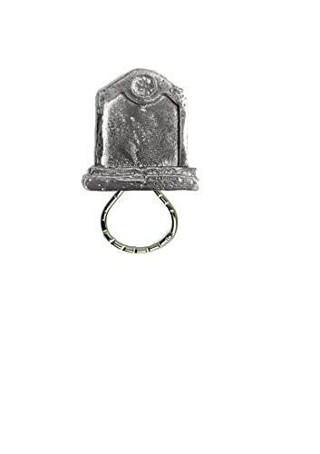 Grabstein Grabstein FT5 2,1 cm x 2,3 cm Emblem aus feinem englischen Zinn Broschen-Halter für Brillen, Stifte, Ausweis, Schmuck