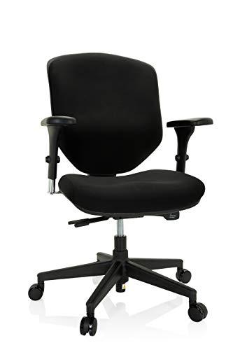 hjh OFFICE 652423 Enjoy II - Silla de Oficina (ergonómica, con reposabrazos, Respaldo Regulable, Talla única), Color Negro
